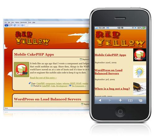 Версия WordPress-блога для мобильных устройств с помощью плагина Wapple Architect Mobile Plugin